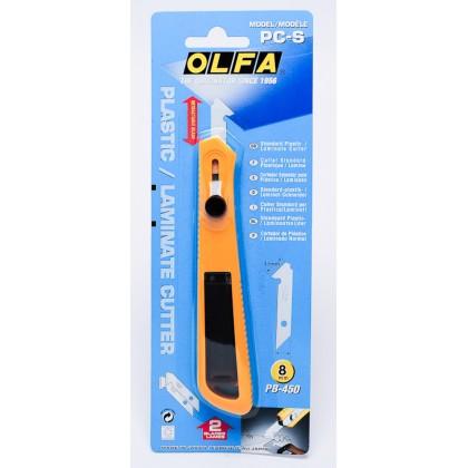 OLFA PLASTIC CUTTER W/2 BLADE